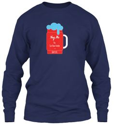 Funny Beer Sweatshirt Hoodies | Limited Navy Long Sleeve T-Shirt Front