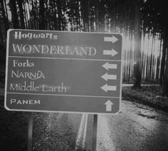 Which road would you take? For me it's tied between Forks and Wonderland, but I would most likely go to Forks. #twihards