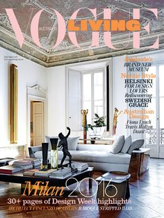 The July/August 2016 issue of Vogue Living is on sale now. On the cover: inside the living room of architect and sculptor Vincenzo de Cotiis's apartment in Milan. Photographed by Kasia Gatkowska. See...