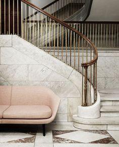 Sum sofa by Normann Copenhagen Interior Stairs, Interior Architecture, Interior And Exterior, Interior Design, Sofa Design, Furniture Design, Marble Stairs, Marble Floor, Copenhagen Design