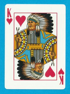 Native American Indian arrows playing card single swap king of hearts - 1 card King Of Hearts, Native American Indians, Nativity, Playing Cards, Arrows, Game, Christmas Nativity, American Indians, Venison
