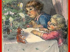 marie fischerová Kvěchová Vintage Christmas, Christmas Cards, Christmas Ornaments, Beautiful Pictures, Projects To Try, Drawing, Painting, Illustrations, Art