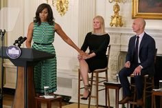 Pin for Later: Michelle Obama Wears the 1 Spring Dress You Need to Work a Room