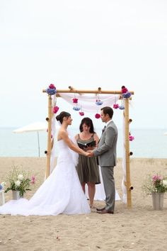 Decorated chuppah.