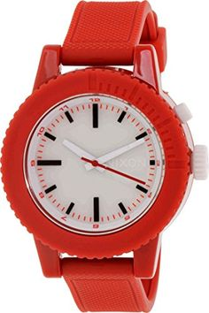 Nixon Women's A287-200 Gogo Red/White Polycarbonate Watch ** Continue to the product at the image link.
