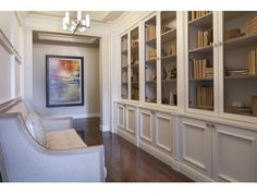 Naples Hot Property Blog - Love this hallway turned library - sit and read a book