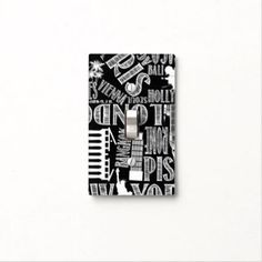 Urban Cities, Black and White Light Switch Cover
