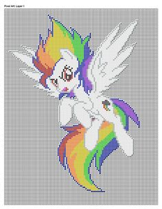 Super Rainbow Dash Pixel Art Design For MC by xxchippy13xx on DeviantArt
