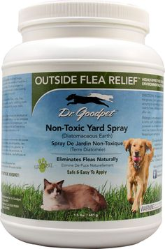 Dr. Goodpet Outside Flea™ Relief Non-Toxic Yard Spray Diatomaceous Earth Description Highly Effective Chemical-Free Pesticide Environmentally Friendly All Natural Eliminates Fleas Naturally Safe & Easy to Apply To insects with an exoskeleton or mollusks (snail and slugs), Diatomaceous Earth is a lethal powder that consists of fossilized remains of diatoms (microscopic shells). the sharp edges cut through the insect's exoskeleton or the mollusk's outer coating leaving them vulnerable to…