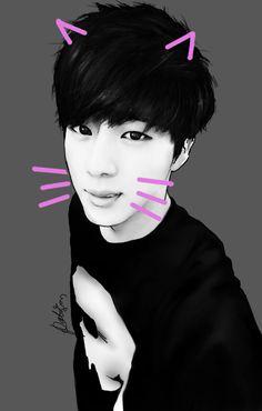 BTS KittyJin by WPatison on DeviantArt