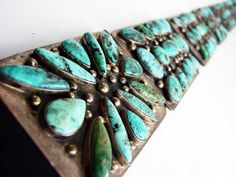 Vintage Navajo Concho Belt w/ Stormy Mountain Turquoise | Kilgore American Indian Art