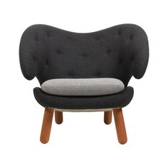 For Sale on - Pelican chair designed by Finn Juhl Manufactured by One Collection Finn juhl in Denmark. Pelican chair was probably the one furthest ahead of its time. Modern Armchair, Modern Chairs, Baker Furniture, Furniture Design, Danish Chair, Walnut Chair, Wing Chair, Scandinavian Modern, Furniture Companies