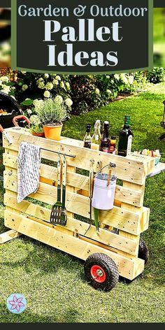 Pallet Crafts, Diy Pallet Projects, Outdoor Projects, Wood Projects, Pallet Ideas, Outdoor Decor, Outdoor Pallet, Wood Ideas, Garden Yard Ideas