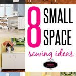 In this post I'm sharing some great ideas for small space sewing areas that would work best for creating a sewing space in places like bedrooms, living roo Sewing Room Storage, Sewing Room Decor, Craft Room Decor, Sewing Room Organization, Craft Room Storage, Fabric Storage, Organization Ideas, Storage Ideas, Small Sewing Space