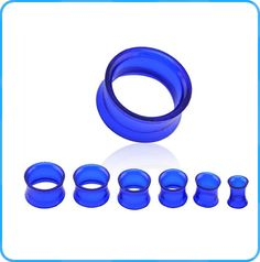 TP02118  clear  plug tunnel blue acrylic body jewelry  for unisex