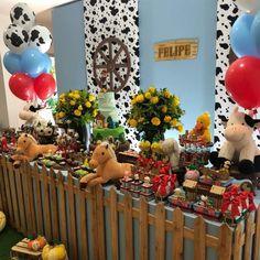 Farmer Birthday Party, Boy First Birthday, 3rd Birthday Parties, Farm Party Decorations, Party Themes, Horse Party, Cowgirl Party, Horse Birthday, Farm Theme
