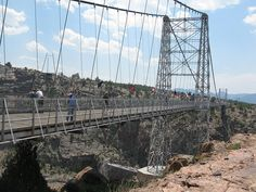Royal Gorge Bridge, Colorado - one of the highest suspension bridges in the WORLD Royal Gorge, Cheyenne Mountain, Suspension Bridge, Mountain Resort, Bridges, Plank, Places Ive Been, Travel Destinations, Colorado