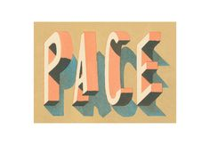 Pace - Louise Fili by Lis Charman, via Flickr