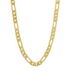 4mm 14k Gold Plated Flat Figaro Link Chain Necklace 30 >>> For more information, visit image link.