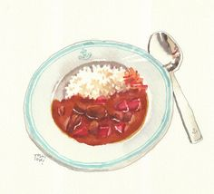 Japanese Dishes, Japanese Food, Anime Bento, Real Food Recipes, Yummy Food, Food Sketch, Food Painting, Food Drawing, Coffee Art
