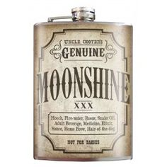 Moonshine Flask - stainless steel - 8oz.