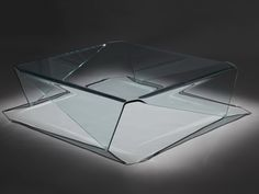 """Creative Furniture Magna Coffee Table  - Color: Transparent Material: Glass Dimensions: W39 4/5"""" x D39 4/5"""" x H12"""""""
