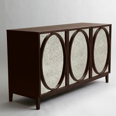 Foxed Mirror Buffet (West Elm) - Adam's Neoclassical inspired (ovals).