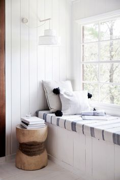 Window seat from interior stylist's tree-change to the NSW Central Coast. Styling: Natalie Walton | Photography: Chris Warnes | Story: Australian House & Garden