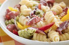 Course: Pasta Salad Makes 8 Servings Healthy Pasta Recipes, Healthy Pastas, Dreamfields Pasta, Lchf, Keto, Greek Salad, How To Make Salad, Salad Dressing, Potato Salad