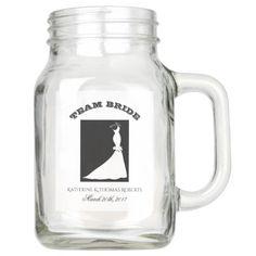 TEAM BRIDE WEDDING GIFT 20 oz MASON JAR