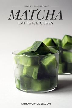 Matcha Latte Ice Cubes #matcha #greentea #matchalatte