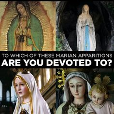 Which Marian Apparitions are you devoted to? Currently there are 20 approved apparitions: 1061- Our Lady of Walsingham #England 1208- Our Lady of the #Rosary to st. Dominic 1265- Our Lady of Mount Carmel appears with the Brown #Scapular to Saint Simon Stock 1360- Our Blessed Mother appeared to st. Catherine of Siena 1531- Our Lady of Guadalupe 1594- Our Lady of Good Success appears to sister Mariana de Jesus Torres in Quito #Ecuador 1830- Our Lady of the Miraculous Medal #Paris 1846- Our…