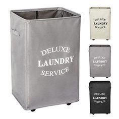 2pcs Beige Hänge Wäschekorb Dirty Clothes Basket Washing Bin Organizer
