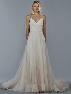 The new Kelly Faetanini wedding dresses have arrived! Take a look at what the latest Kelly Faetanini collection has in store for newly engaged brides. V Neck Wedding Dress, Pink Wedding Dresses, Wedding Dress Styles, Wedding Gowns, Blue Bridal, Bridal Style, Stunning Dresses, Elegant Dresses, A Line Gown