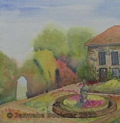 Enchanted Garden, Arches, Magenta, Watercolour, To My Daughter, Amp, Colours, Indian, French