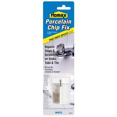 Porcelain Chip Fix, Two Part Epoxy Paint That Repairs And Covers Chips,  Scratches