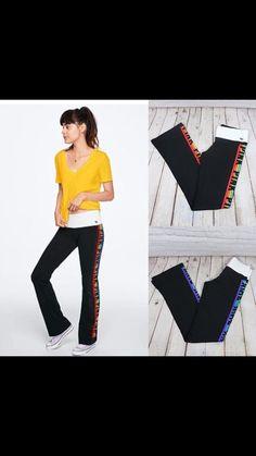 1b97ae8dc7106 VS PINK Sherpa Blanket - Rainbow Logo on Black New in VS Online ...