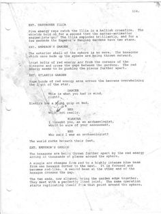 Sci-Fi screenplay page. Dream big, I say. Lost & Found, Dream Big, Sci Fi, Let It Be, Sayings, Science Fiction, Lyrics, Quotations, Idioms