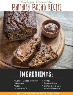 Airfryer Recipes   Airfryer Chocolate Banana Bread Recipe