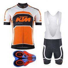 2018 KTM Ciclismo uomo Camicie Estate Mtb Bike Abbigliamento Bici Manica  Corta 9D Pantaloncini Set Maglia 69deba0915c