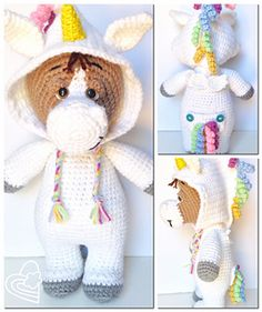 Charlie Horse is the third in the series of PJ Pals! Each doll standing approxing 15 inches (depending on tension of stitch and thickness of yarn), they are just the right size for snuggles for all ages!