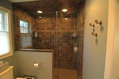 Bathroom, Latest Shower Doors For Walk In Shower With Sloped Ceiling Recessed Lighting For Small Bathroom Dimensions: How to Build a Walk in Shower in Fast Time and Low Budget in Your Home Tile Walk In Shower, Small Bathroom With Shower, Modern Bathroom Design, Small Bathrooms, Bathroom Showers, Classic Bathroom, Glass Shower, Clean Shower, Master Bathroom