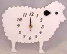 Handmade acrylic 'Baa-bra the sheep' clock!  Designed and laser cut in Pembrokeshire, South West Wales!   Pinky Bear Designs https://www.facebook.com/PinkyBearDesigns
