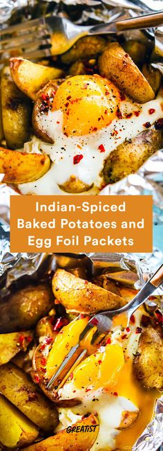 4. Indian-Spiced Baked Potatoes and Egg Foil Packets #foilpacket #recipes http://greatist.com/eat/foil-packet-recipes-for-easy-cleanup