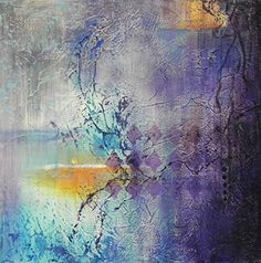 """Daily Painters Abstract Gallery: Colorful Contemporary Abstract Painting """"A NOCTURNE WEB"""" by Contemporary Realism Artist Carol A. McIntyre"""