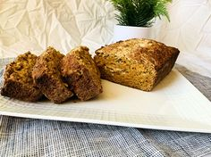 You can make the bread into muffins if you prefer and just adjust the cooking time. Just add a spoonful of batter to the bottom of the muffin pan and then about a tsp of peanut butter before adding another spoonful of batter. This is another perfect meal prep breakfast and is freezer friendly if you want to batch cook it for the week. I often eat the bread on its own, but it would be amazing with a little additional peanut butter or even almond butter. Creamy Peanut Butter, Almond Butter, Batch Cooking, Cooking Time, Unsweetened Applesauce, Sweet And Salty, How To Make Bread, Sweet Bread, Food For Thought
