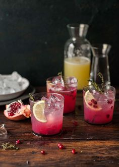 pomegranate lemonade.