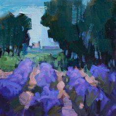 "Over Lavender, 6 x 6"" oil painting by Karen White"