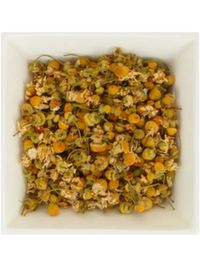 CHAMOMILE TEA relaxes the nerves and calms the mind. It's a great alternative to drink before bed