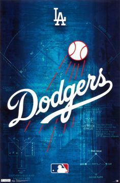 Los Angeles Dodgers Logo Prints at AllPosters.com